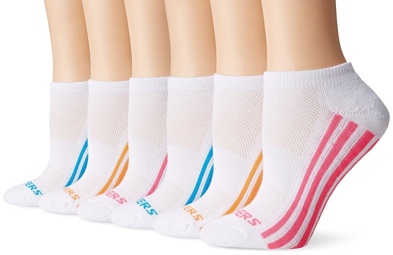skechers ultra sock. amazon.com: skechers women\u0027s low cut athletic sock 6-pack, white/bright, 9-11: clothing ultra