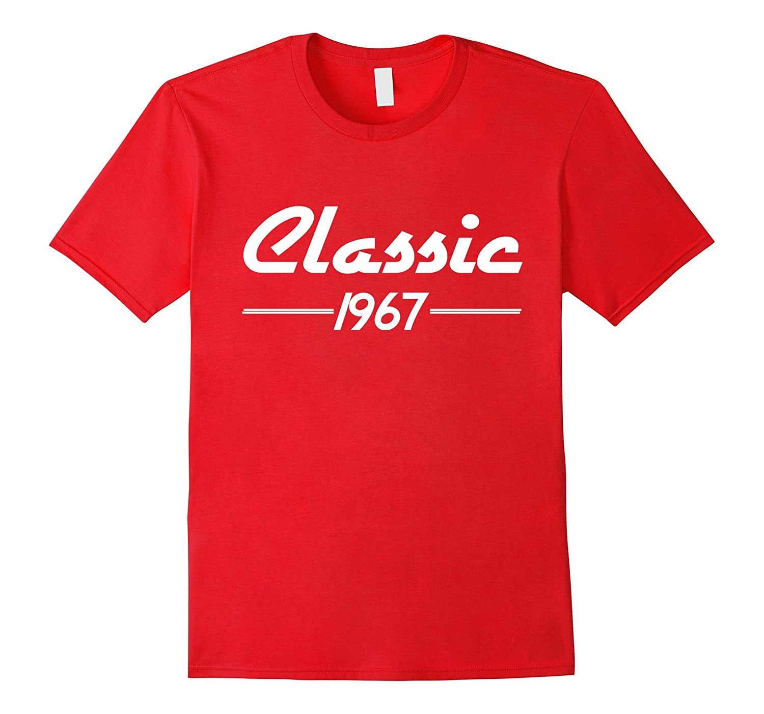50th Birthday Shirt for Men - Classic 1967 Vintage Design-4LVS