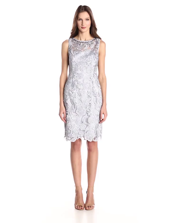 Adrianna Papell Lace Cocktail Dress