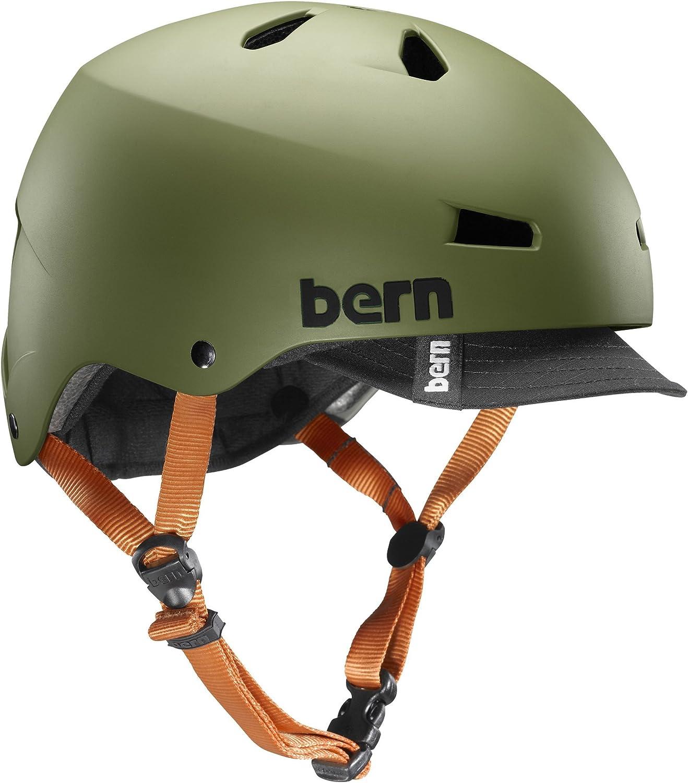 bern(バーン) ヘルメット ヘルメット MACON VISOR メンズ 自転車 スケートボード BE-VM2BHMOGV-05 Matte Olive XL