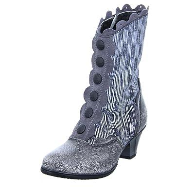 best sneakers 174a8 87e6a Simen Damen Stiefel Grau gewischter Stiefel 0463A grau ...