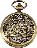 AMPM24 - Montre de Gousset - Dragon Squelette Mécanique - Boîtier Bronze avec Boîte WPK230