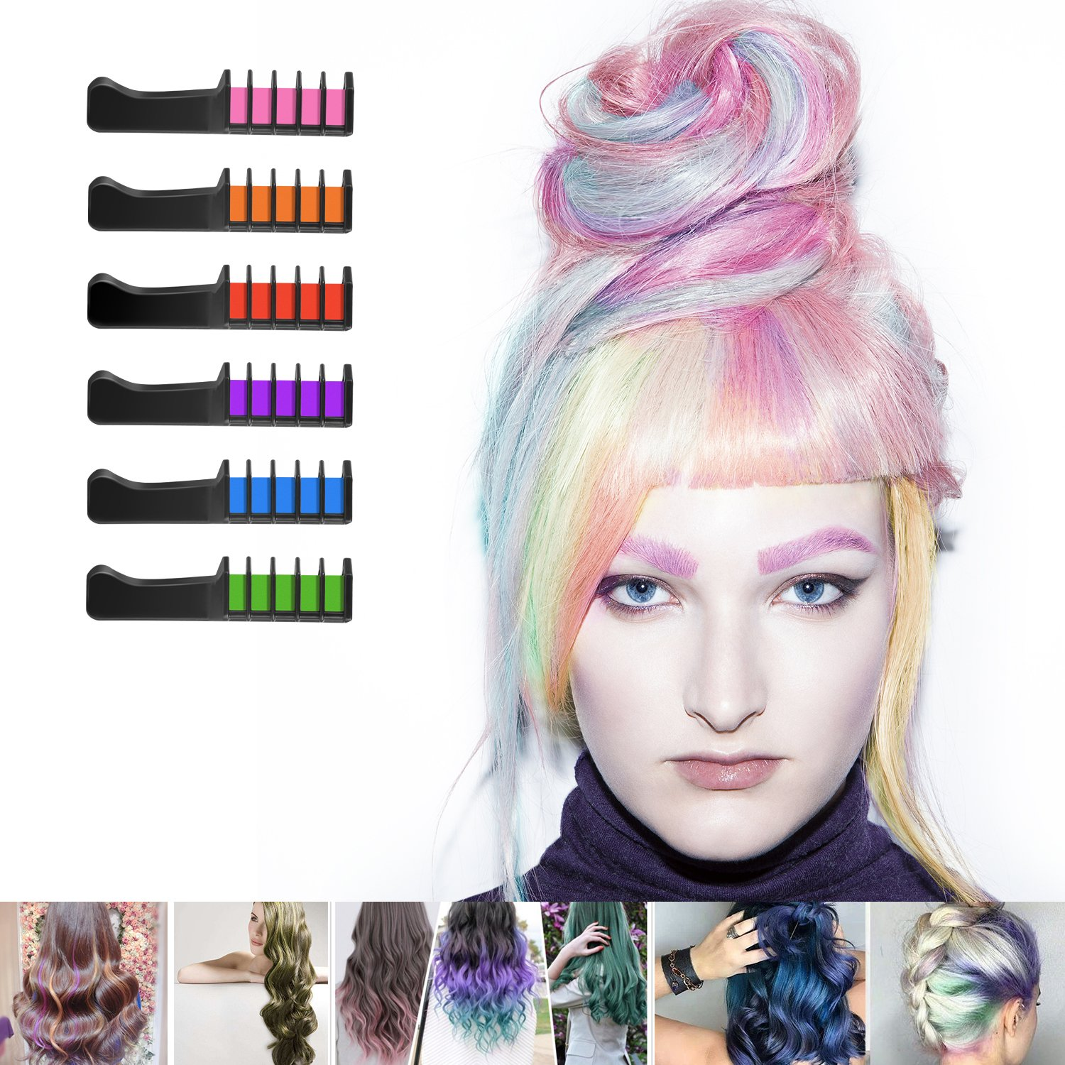 Amazon Ameauty Temporary Washable Hair Color Comb Built In