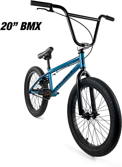 "Stealth Blue 20/"" Bicycle Elite BMX Bike"