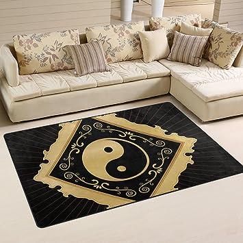 COOSUN Yin Yang Area Rug Carpet Non-Slip Floor Mat Doormats for ...
