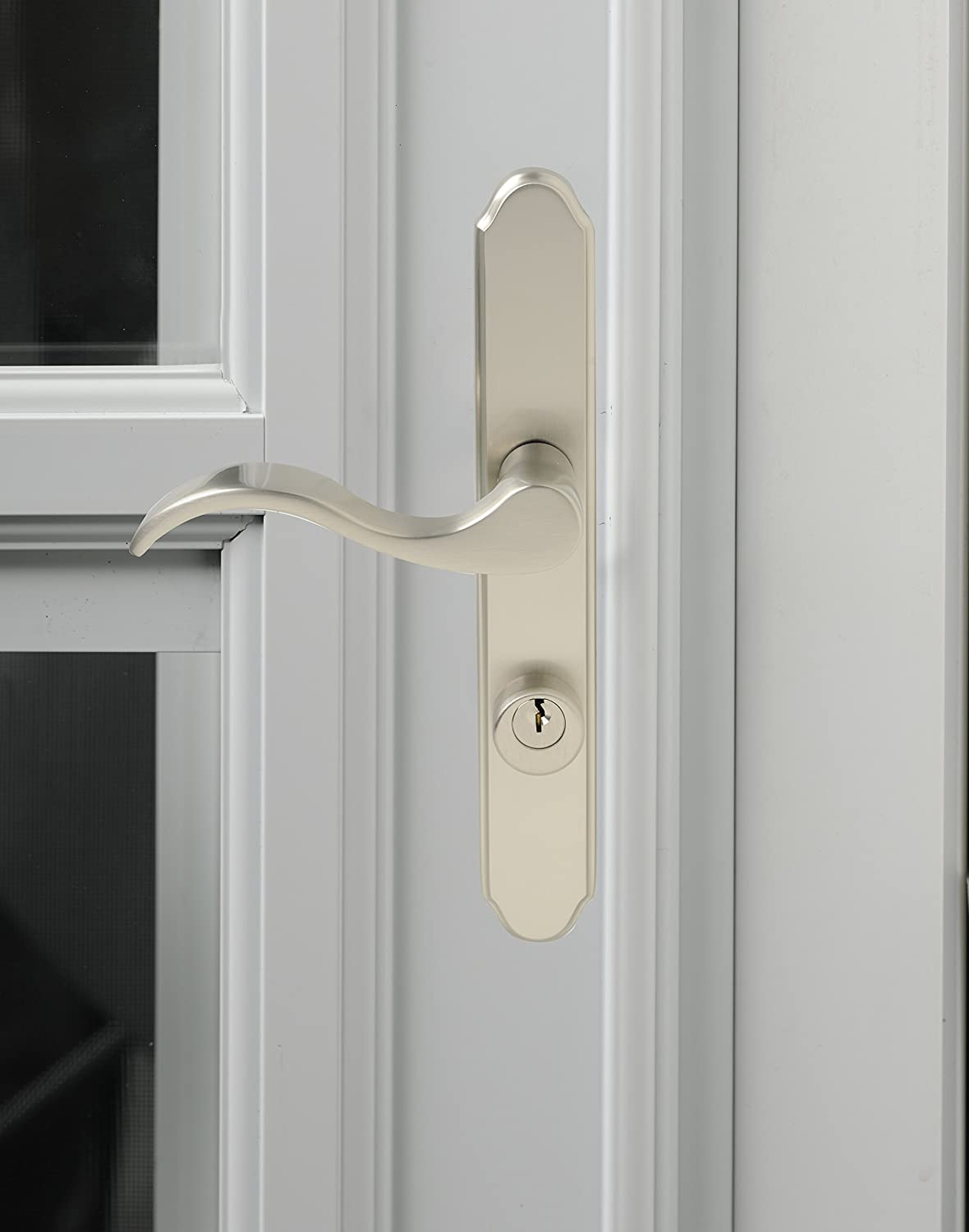 Satin Nickel Wright Products VMT115SN Serenade Style Mortise Set