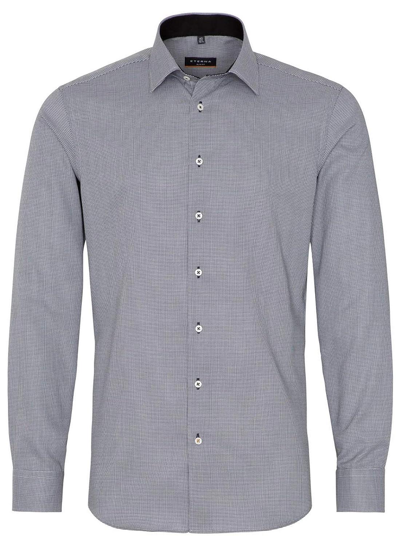 TALLA 42. Eterna - Camisa Formal - Cuadros - Clásico - Manga Larga - para Hombre