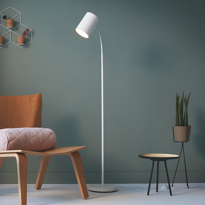 Philips Lighting Myliving Lámpara de Pie, Iluminación Interior para Salón O Habitación, Casquillo E27, color Blanco: Amazon.es: Iluminación
