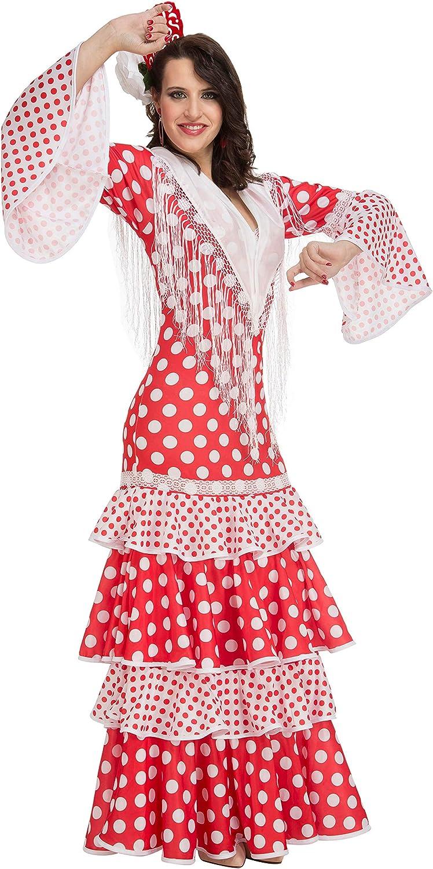 My Other Me Me-203862 Disfraz de flamenca Rocío para mujer, color rojo, M-L (Viving Costumes 203862)