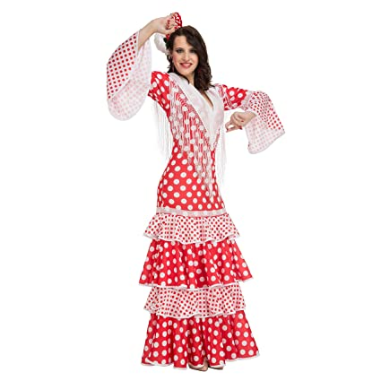 My Other Me Me-203863 Disfraz de flamenca Rocío para mujer, Color rojo, XL (Viving Costumes 203863