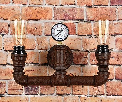 Industrial Wall Light Amazon: BAYCHEER Industrial Steampunk Wall Lights Pipe Lamp Retro