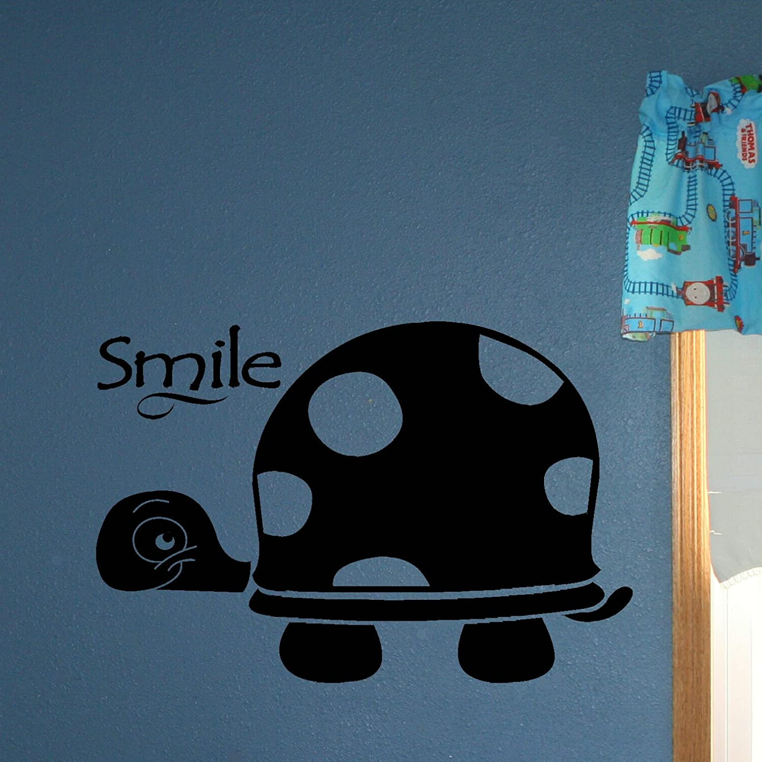 Storm Gray Wall Decor Plus More WDPM2518 Smile Turtle Boys Wall Sticker for Room Decoration 23x15.5-Inch