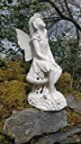 Large Solar powered Fairy secret Garden Ornament Resin Figurine Angel Statue