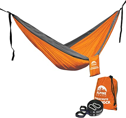 Yard and Garden Camping Travel WoneNice Camping Hammock Beach Best Parachute Hammock with 2 x Hanging Straps for Backpacking Portable Lightweight Double Nylon Hammock