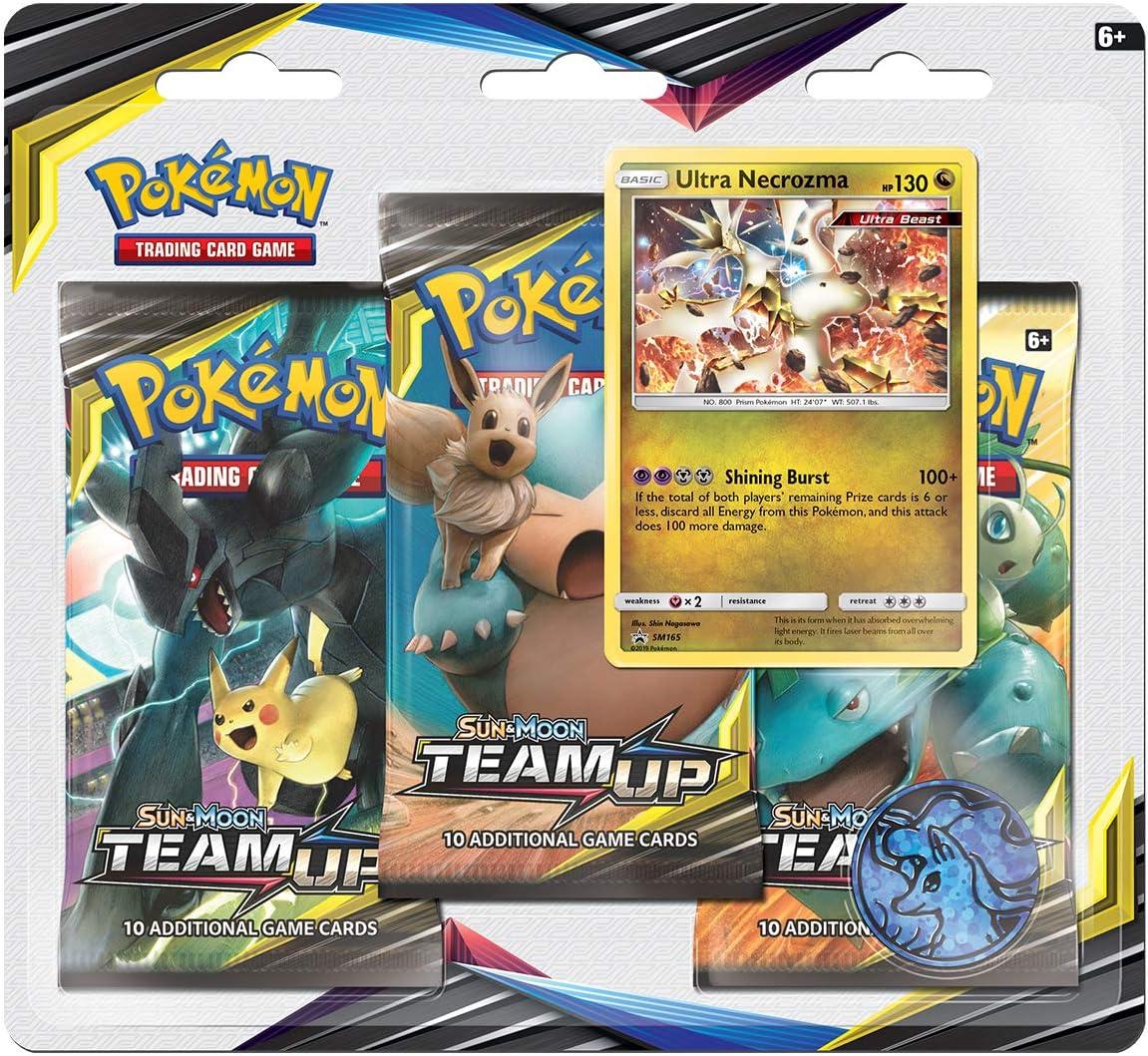 Pokemon TCG: Sun & Moon 9 Team Up Blister 3-Pack: Amazon.es ...