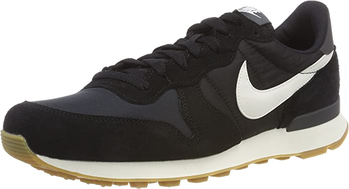Nike Internationalist Sneakers Damen Schwarz mit weißen Streifen