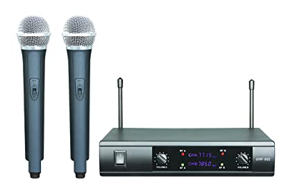 Boly Pro UHF Dual Wireless Cordless Microphone Mic System