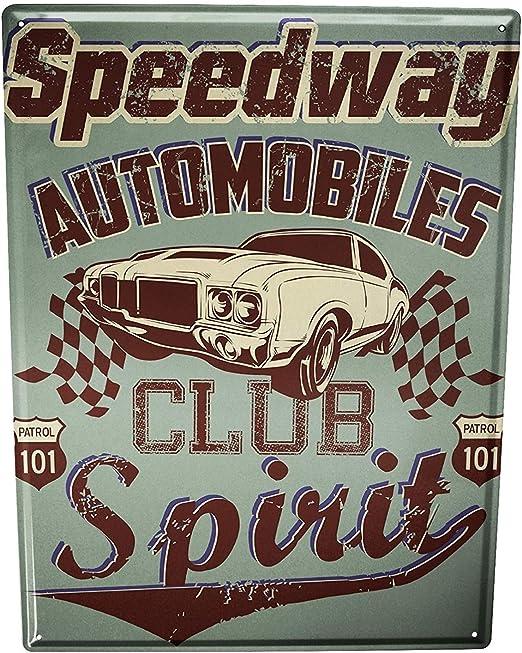 DOGT Tin Sign Metal Plate Plaque Vintage Car Car Club 7.8X11.8 ...