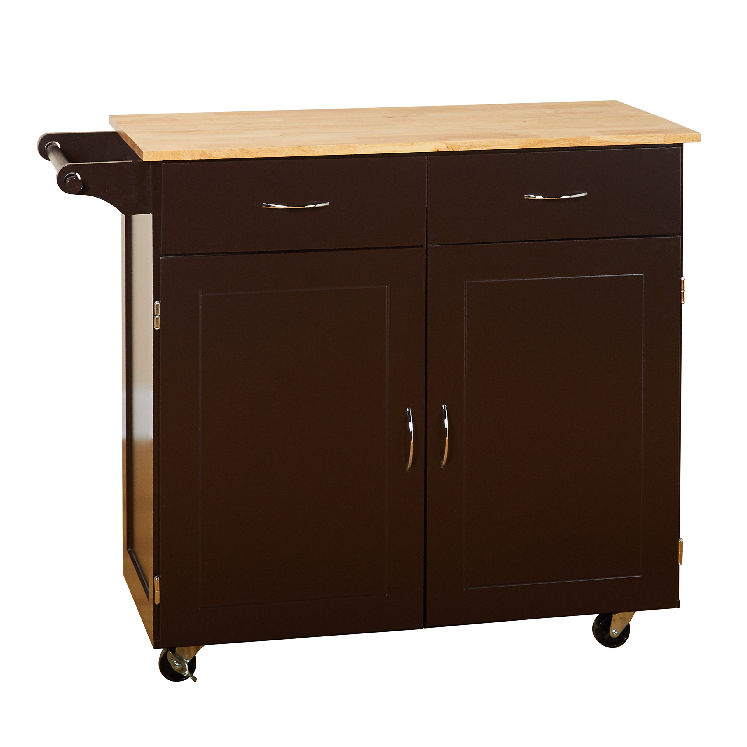 Target Marketing Systems 60046ESP Large Kitchen Cart, Espresso/Natural