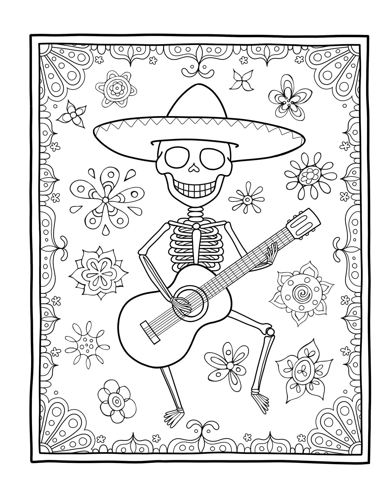day of the dead coloring book coloring is fun thaneeya mcardle