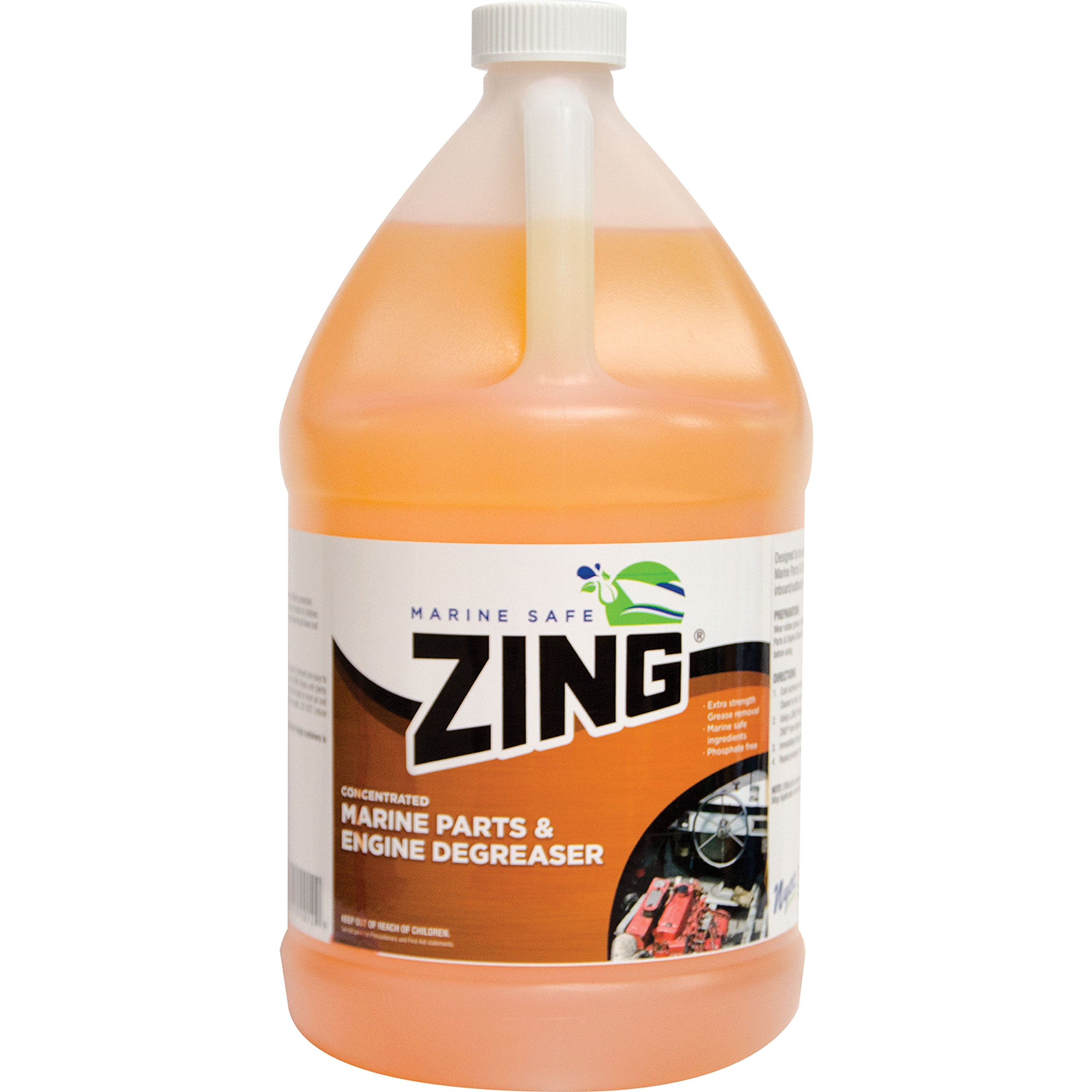Zing 10501 Marine Safe Concentrated Marine Parts & Engine Degreaser - 1 Gallon