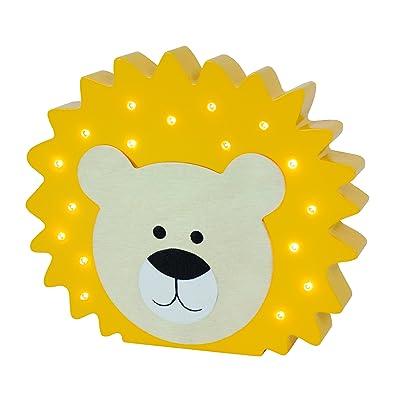 'JaBaDaBaDo Lampe LED Lion Chambre Ambiance gens Lampe d'ambiance lampe de Veilleuses Décoration Murale Motif Lampe Chambre d'enfant bébé