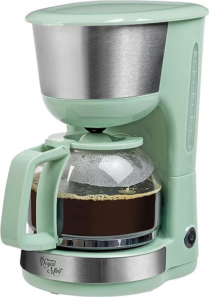 Bestron Cafetera con Placa Térmica, Royal Mint, para Café de Filtro Molido, 10 Tazas, 1000 W, Verde Menta: Amazon.es: Electrónica