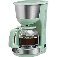 Bestron Cafetera con Placa Térmica, Royal Mint, Para Café de Filtro Molido, 10 Tazas, 1000 W, Verde menta