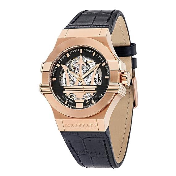 Maserati Reloj Analógico Automático para Hombre con Correa de Cuero - R8821108002: Maserati: Amazon.es: Relojes