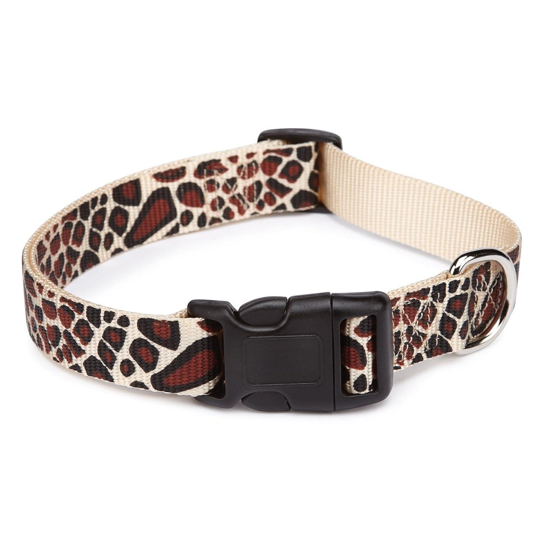 East Side Collection Nylon Animal Print Dog Collar, 6 to 10-Inch, Giraffe