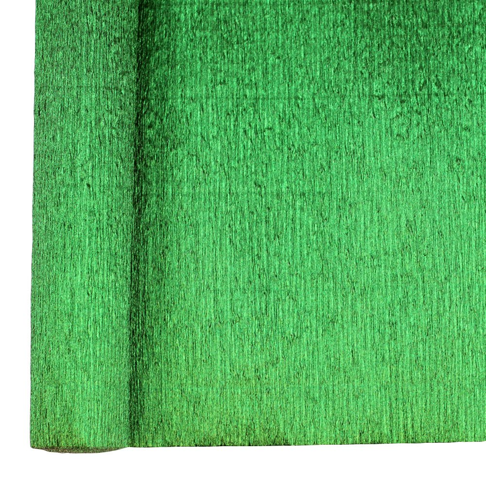 Just Artifacts Premium Metallic Crepe Paper Roll - 8ft Length/20in Width (Color: Kelly Green) JustArtifacts.Net