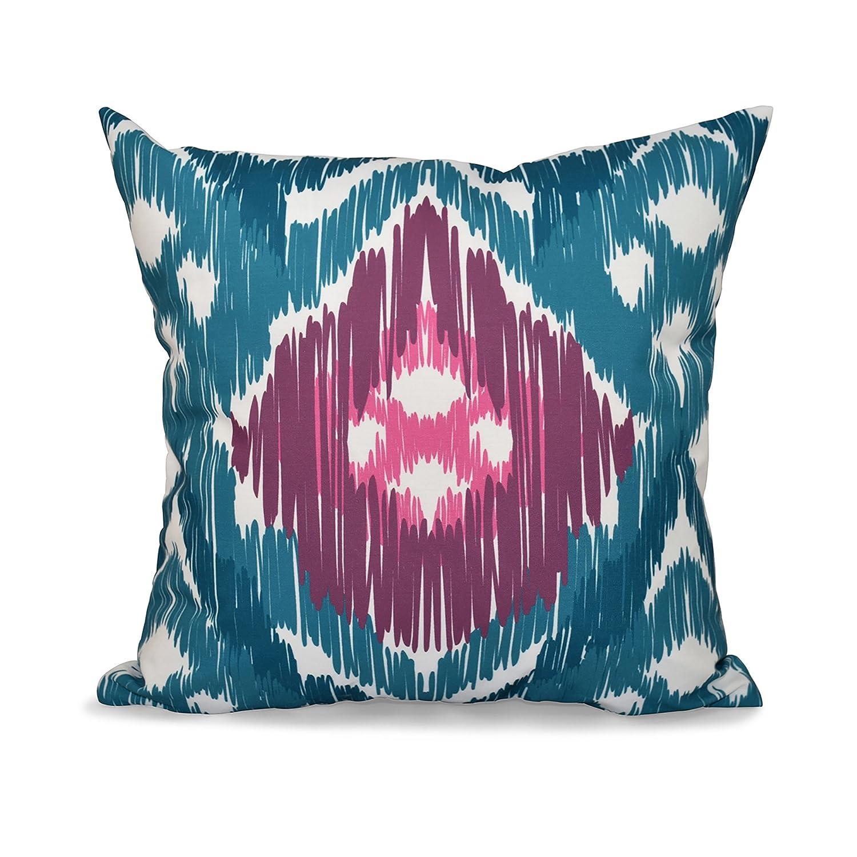 Original E by design PGN542BL37PU5-26 26 x 26-inch Geometric Print Pillow 26x26 Blue