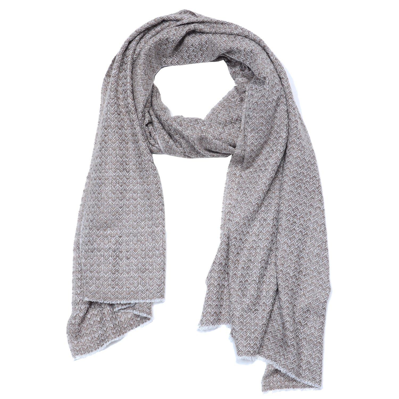 Cashmina House zigzag classic scarf   Cashmere Pashmina   100% Authentic Hand-Combed Luxurious, Softest & Warmest Scarves   Beautifully Crafted & Stylish Finish by Cashmina House (Image #1)