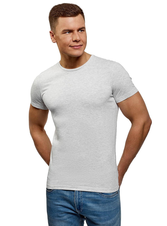 oodji Ultra Uomo T-Shirt Basic Dritta Senza Etichetta RIFICZECH s.r.o. 5B611003M
