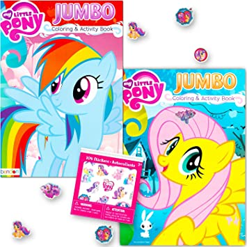 Amazon.com: My Little Pony Coloring Book Super Set with Stickers ...