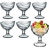BORMIOLI ROCCO Coupe à glace Dessert Acapulco Bouche Verres à Cocktail–Lot de 6