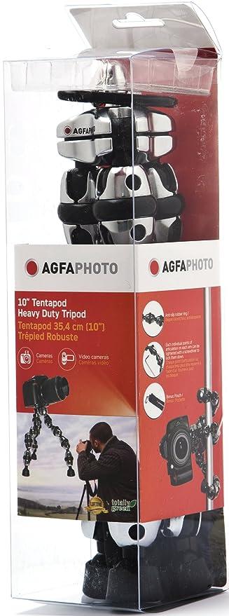 AGFA 10-Inch Tentapod, Heavy Duty, Flexible Tripod - Silver APTP10