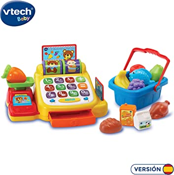 VTech- Caja registradora supermercado aprendizaje interactivo, Multicolor (3480-191322) , color/modelo surtido: Amazon.es: Juguetes y juegos