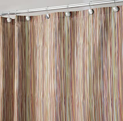 MDesign Thin Stripe Fabric Shower Curtain 72quot X
