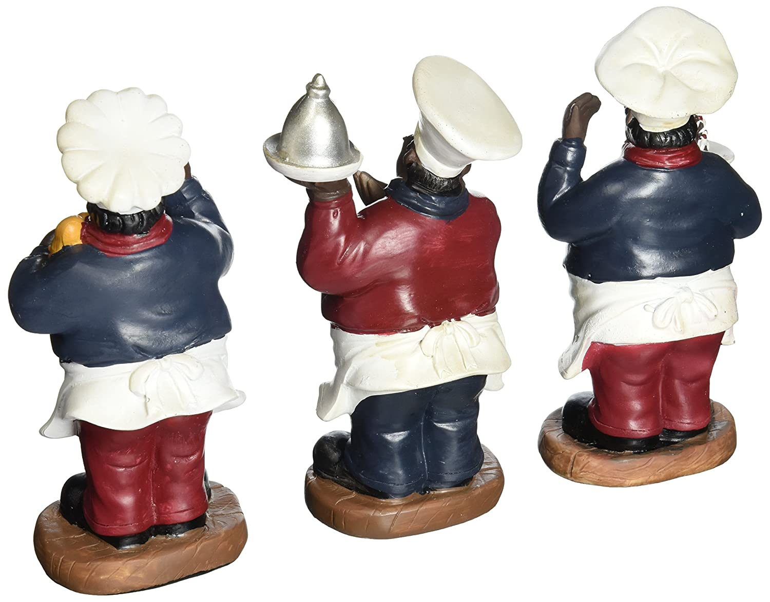 Amazon.com: Fat Chef Kitchen Statue Set of 3 African Americans Table ...