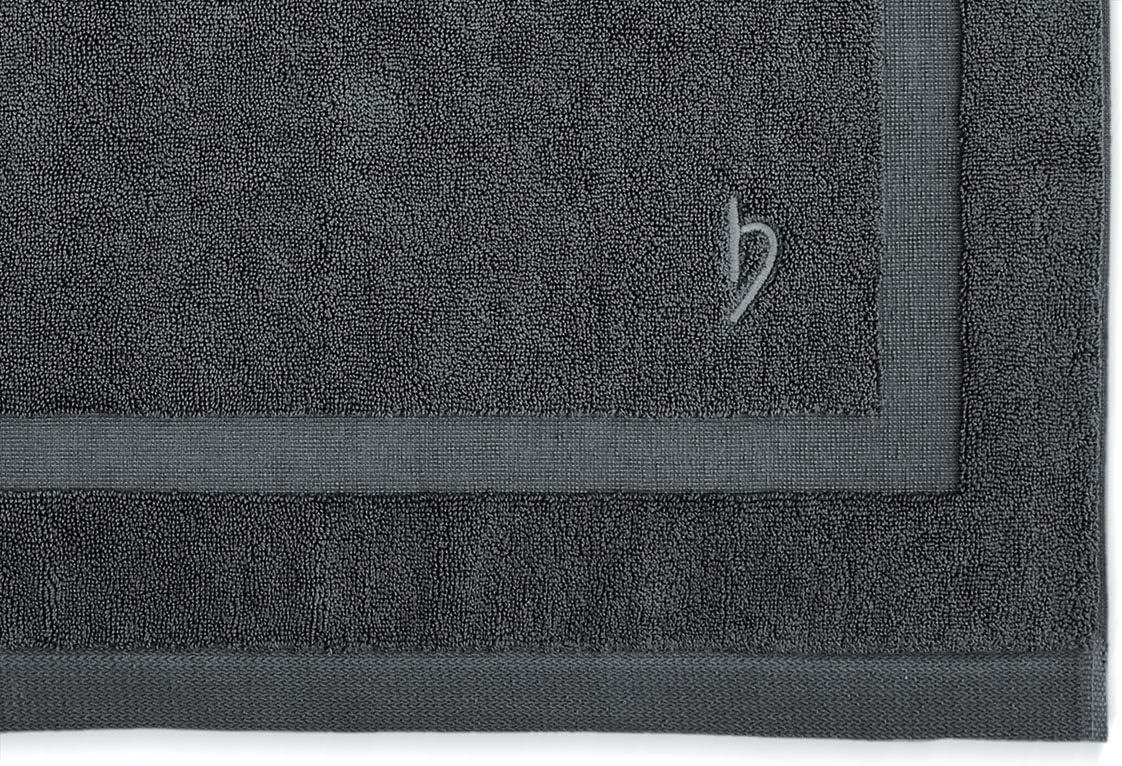 Coton 50 x 80 cm anthracite Herzbach Home Tapis de bain de qualit/é sup/érieure 50 x 80 cm