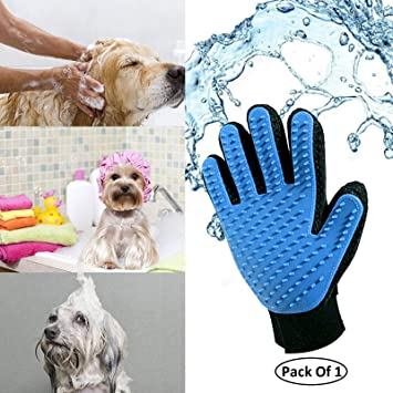 Getko With Device 1 Pcs New Cleaning Brush Magic Glove Pet Dog Cat Massage Hair Removal Grooming Groomer - Multi Color