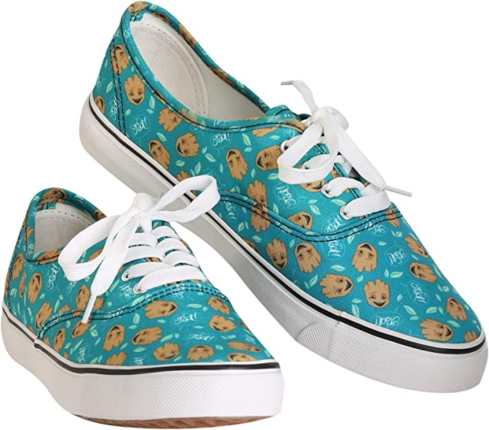 am Groot Teal Womens Canvas Shoes