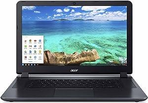 Acer Chromebook 15.6-inch Laptop (Intel Dual-Core 2.41GHz Processor, 2GB RAM, 16GB SSD, Google Chrome OS) Black (Renewed)