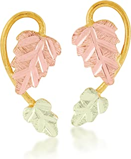 product image for Black Hills Gold Two-Leaf Earrings