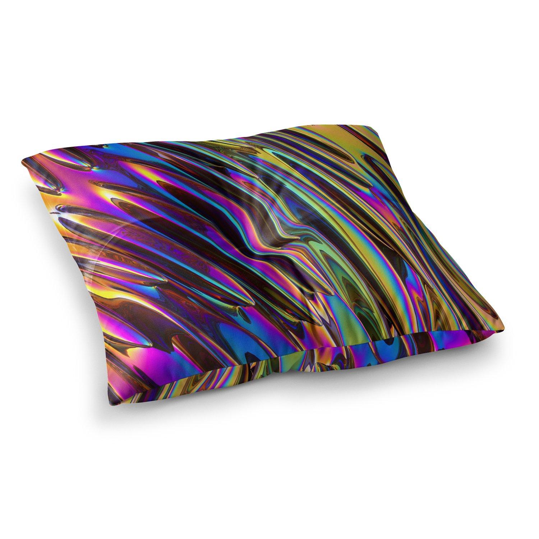 Kess InHouse Danny Ivan Twist Purple Blue Illustration Throw 80 x 60 Fleece Blanket