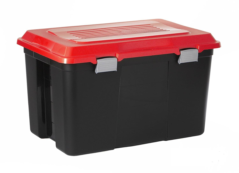 Sundis 4141022.0 Packer Baule, Plastica, Nero/Rosso, 59 x 39 x 35.5 cm ROTHO_1414102238