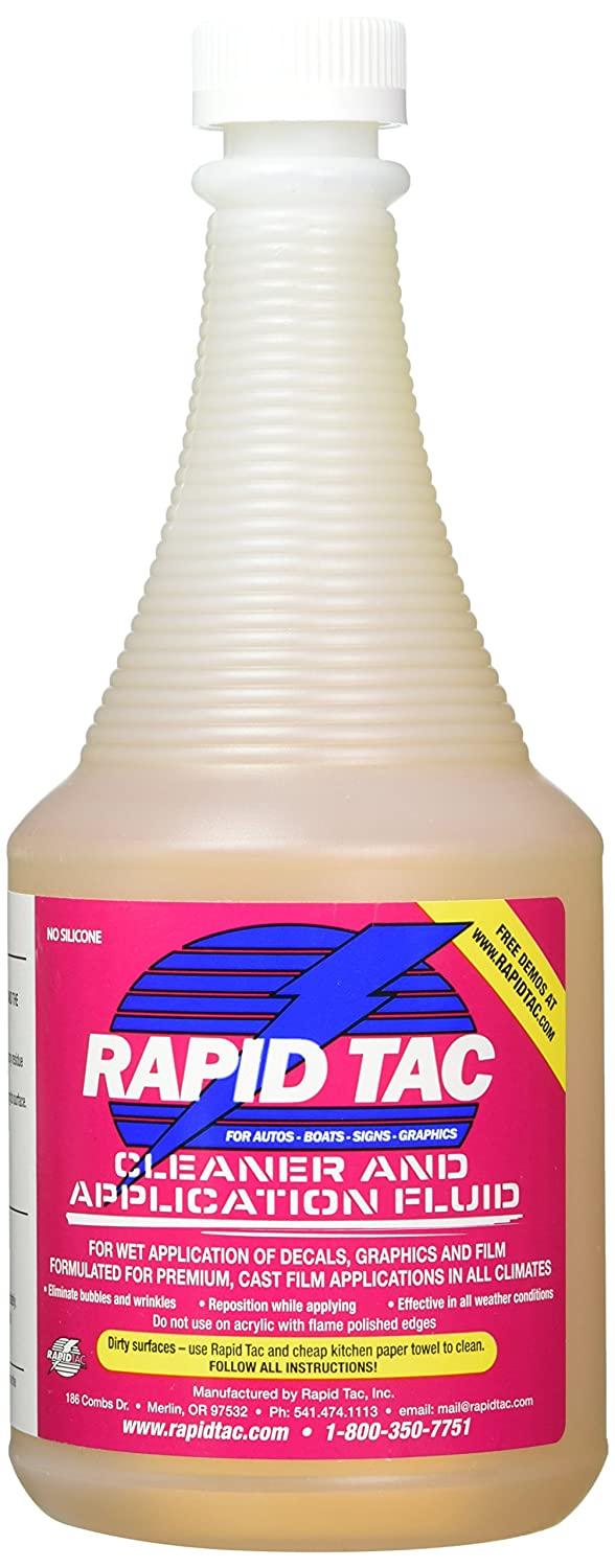 Rapid Tac Application Fluid For Vinyl Wraps Decals Auto Meter Tach Wiring Pro Cycle Stickers 4oz Sprayer Automotive
