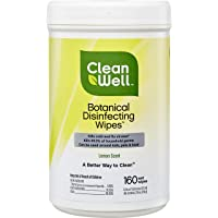 Deals on 160-Ct CleanWell Botanical Disinfecting Wipes Lemon Scent