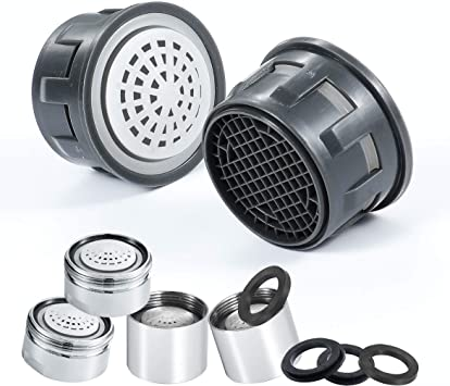 15//16-27UNS 24mm Male Thread- Chrome 2.5 GPM 12 Pack Flow Retrictor Replacement Parts Bathroom 1.5 1.8 3 PCS Bathroom Sink Faucet Aerator 1.2 Faucet Aerator Male Kitchen Sink Aerators Brass